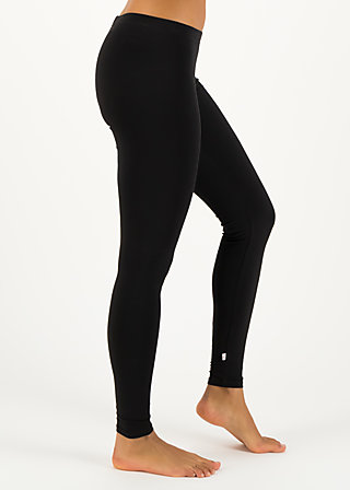 logo leggings, just me in black, Leggings, Black