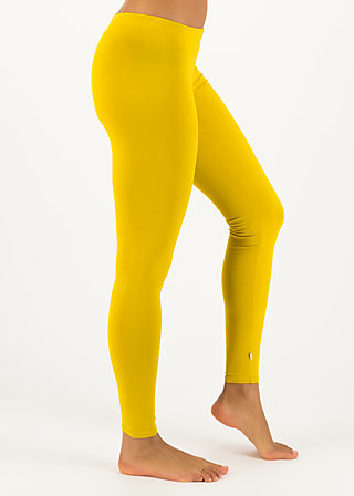 logo leggings, just me in yellow, Leggings, Gelb