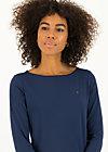 logo u-boot  3/4 welle, just me in blue, Shirts, Blau