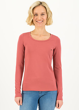 logo round neck langarm welle , just me in rosewood, Shirts, Rosa