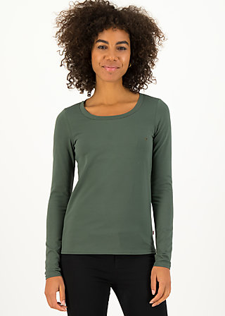 logo round neck langarm welle , just me in thyme, Shirts, Grün