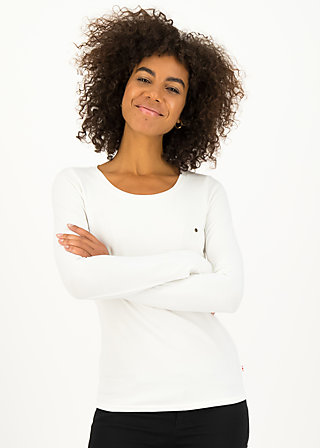 logo round neck langarm welle , just me in white, Shirts, White