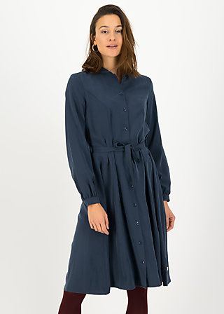 logo woven dress, bella blue, Kleider, Blau