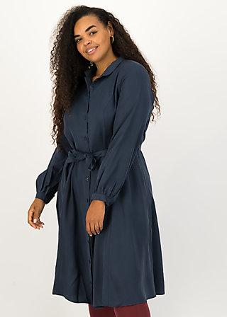 logo woven dress, bella blue, Kleider, Blau