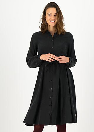 logo woven dress, night nature, Kleider, Schwarz