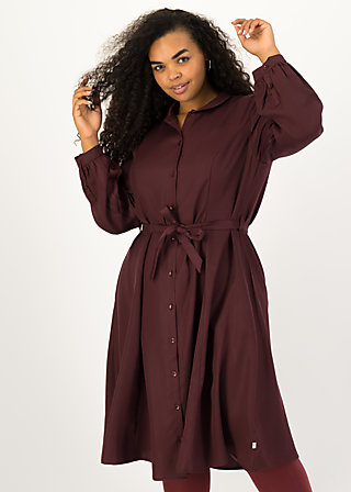 logo woven dress, winter wine, Kleider, Rot