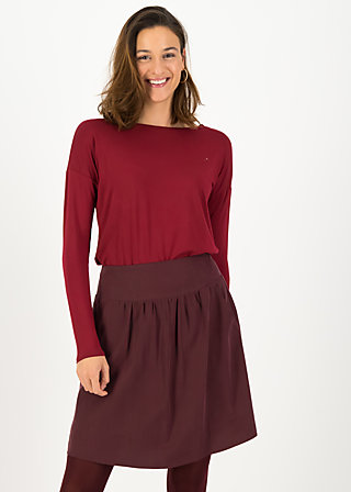 logo woven skirt, winter wine, Skirts, Red