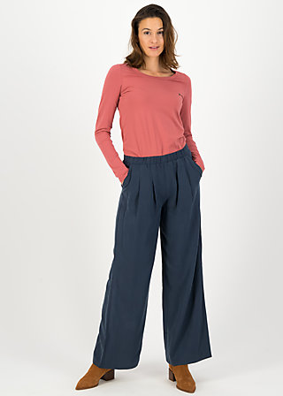 logo woven trousers, bella blue, Trousers, Blue