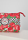 Kosmetiktasche long love, roses of black forest, Accessoires, Rot