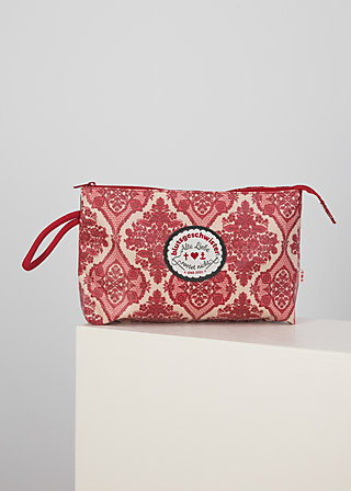 Makeup Bag long love, super ornamental, Accessoires, Red