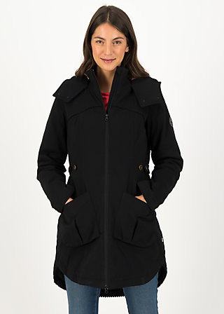 Winter Parka loving woods, black plain forest, Jackets & Coats, Black
