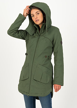 Winter Parka loving woods, green forest, Jackets & Coats, Green