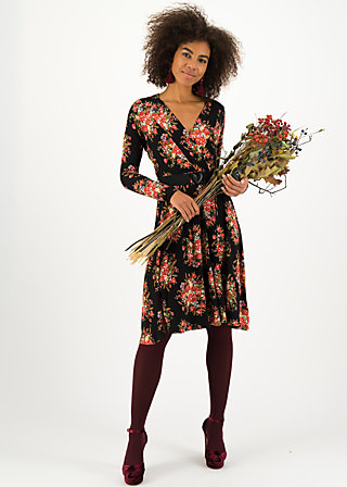 Wrap Dress ma chère robe enroulée, graceful harvest, Dresses, Black