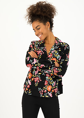 Viscose Top miss silky, fall finch, Blouses & Tunics, Black