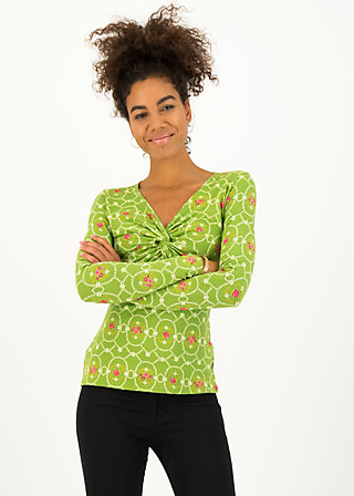 Longsleeve my cosy valentine, flowery willow, Shirts, Green