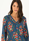 Viscose Top oh deer, happy harvest, Blouses & Tunics, Blue