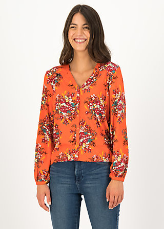 Viscose Top oh deer, glory harvest, Blouses & Tunics, Orange