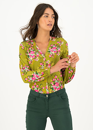Viscose Top oh deer, joyful harvest, Blouses & Tunics, Green