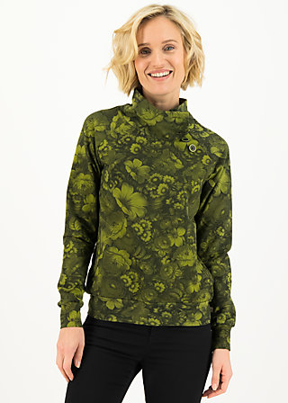 oh so nett sweat, wildwood flowers, Pullover & leichte Jacken, Grün