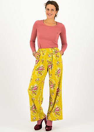 Tailored Trousers precious ease, oh my deer, Trousers, Yellow