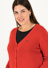 pretty petite cardy, red grape, Pullover & leichte Jacken, Rot