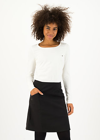 A-line Skirt pure toujours, black plain forest, Skirts, Black