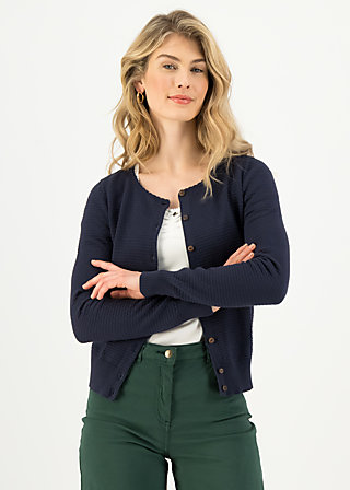 Cardigan save the brave, suited in blue, Cardigans & leichte Jacken, Blau