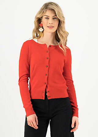 Cardigan save the brave, suited in red, Cardigans & leichte Jacken, Rot