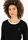 Cardigan save the brave, suited in black, Cardigans & leichte Jacken, Schwarz
