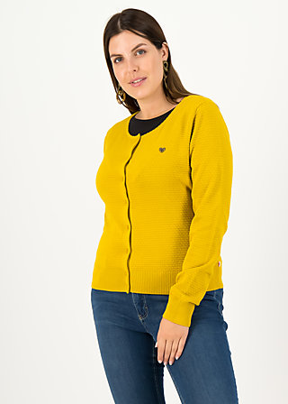 Cardigan save the brave, suited in yellow, Cardigans & leichte Jacken, Gelb