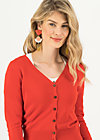 Cardigan save the world, red solid, Cardigans & leichte Jacken, Rot
