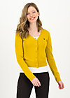 Cardigan save the world, yellow solid, Cardigans & lightweight Jackets, Yellow