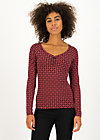 savoir vivre longsie, anni autumn, Shirts, Red