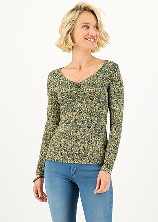 Longsleeve savoir vivre, pattern poetry, Shirts, Grün
