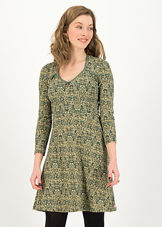 Jersey Dress diamond heart, pattern poetry, Dresses, Green