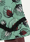 splendourous circle skirt, falling leaves, Skirts, Green