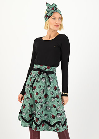 splendourous circle skirt, falling leaves, Röcke, Grün