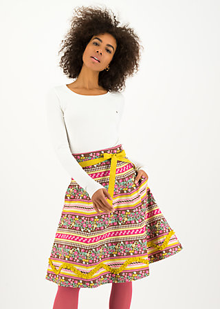 splendourous circle skirt, garden glory, Röcke, Braun