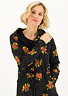 Sweatjacke strong girl next door, forest flower, Zipperjacken, Schwarz