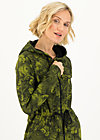 Zip Top strong girl next door, wildwood flowers, Zip jackets, Green
