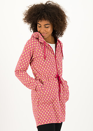 Zip Top strong girl next door, onion look, Zip jackets, Red