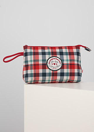 sweethearts washbag, april check, Accessoires, Blue