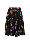 wooden heart circlar skirt, berrie birds, Skirts, Black