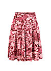 wooden heart circlar skirt, toile de romantic, Röcke, Rot