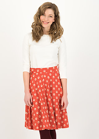 wooden heart circlar skirt, mister mush, Skirts, Red