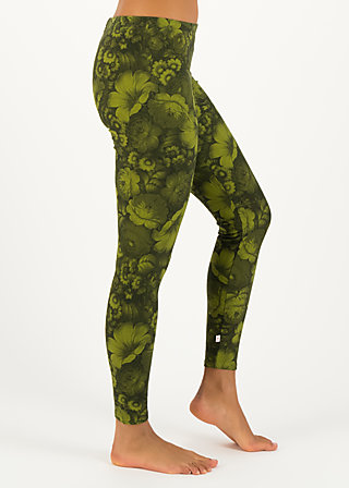 woodwalker legs, wildwood flowers, Leggings, Green