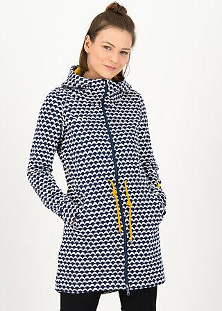 Zip-up Hoodie cosyshell hooded long, sunny seaside, Jackets & Coats, Blue