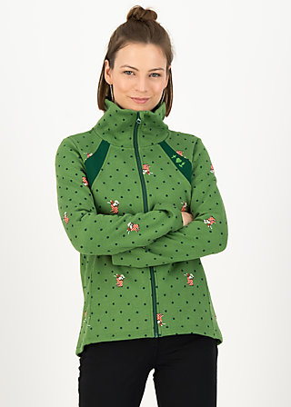 Fleece Jacket cosyshell turtle, english garden, Jackets & Coats, Green