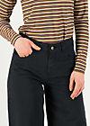 high waist culotte, black ink, Hosen, Schwarz