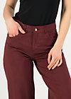 Hose high waist culotte, burgundy wine, Hosen, Rot